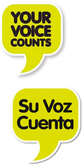 Your Voice Counts graphic.
